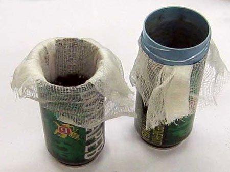 горшки для рассады из алюминиевых банок