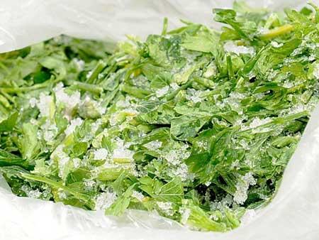 заморозка зелени для первых блюд