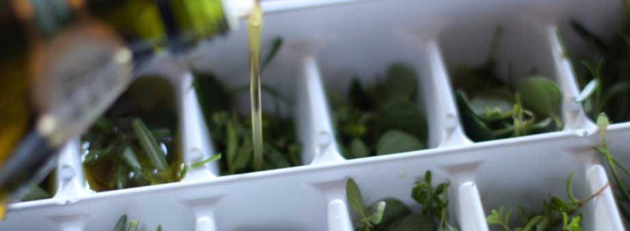 заморозка зелени в масле
